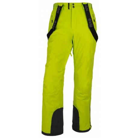 Kilpi Methone-M světle zelená pánské nepromokavé zimní lyžařské kalhoty