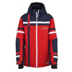 Kilpi Titan-JB červená dětská nepromokavá zimní lyžařská bunda