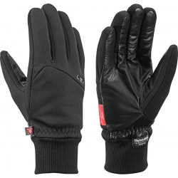 Leki Hiker Pro black pánské větruodolné rukavice Gore Windstopper Primaloft