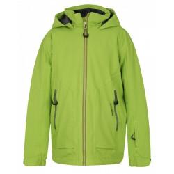 Husky Zengl Kids zelená dětská nepromokavá zimní lyžařská bunda