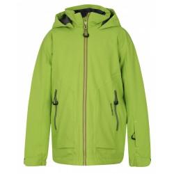 Husky Zengl Junior zelená dětská nepromokavá zimní lyžařská bunda