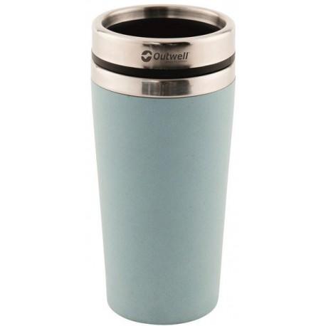 Outwell Vacuum Bamboo Mug iris blue 400 ml nerezový termohrnek