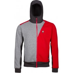High Point Woolcan 4.0 Hoody grey/red pánská vlněná mikina Tecnowool/Tecnostretch