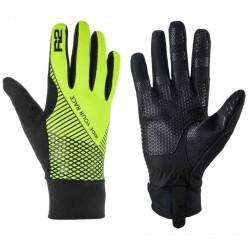 R2 Slider ATR27C černá/neonově žlutá unisex softshellové rukavice