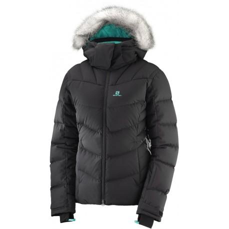 Salomon Icetown Jacket W black 403517 dámská nepromokavá zimní lyžařská bunda