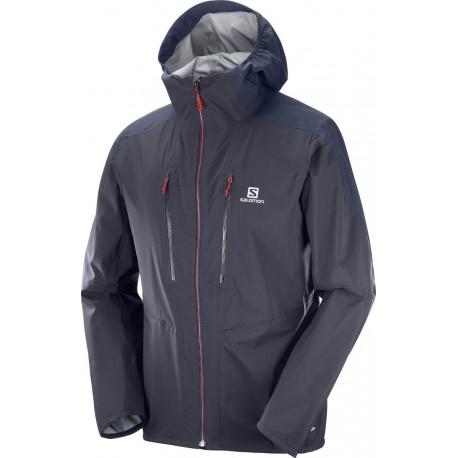 Salomon Outspeed 3L JKT M graphite/night sky 400760 pánská nepromokavá bunda (1)