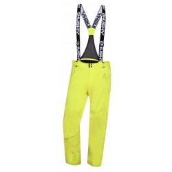 Husky Mithy M zelenožlutá pánské nepromokavé zimní lyžařské kalhoty