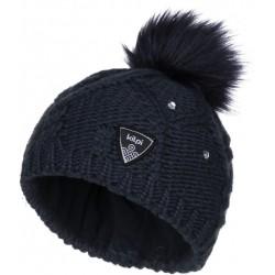 9dcb19d1e5c Kilpi Lady-JG tmavě modrá dívčí pletená čepice
