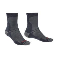Bridgedale Hike Ultra Light T2 Merino Performance Crew black trekové ponožky Merino vlna