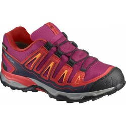 Salomon X-Ultra GTX J sangria/poppy red 392917 dětské nízké nepromokavé boty