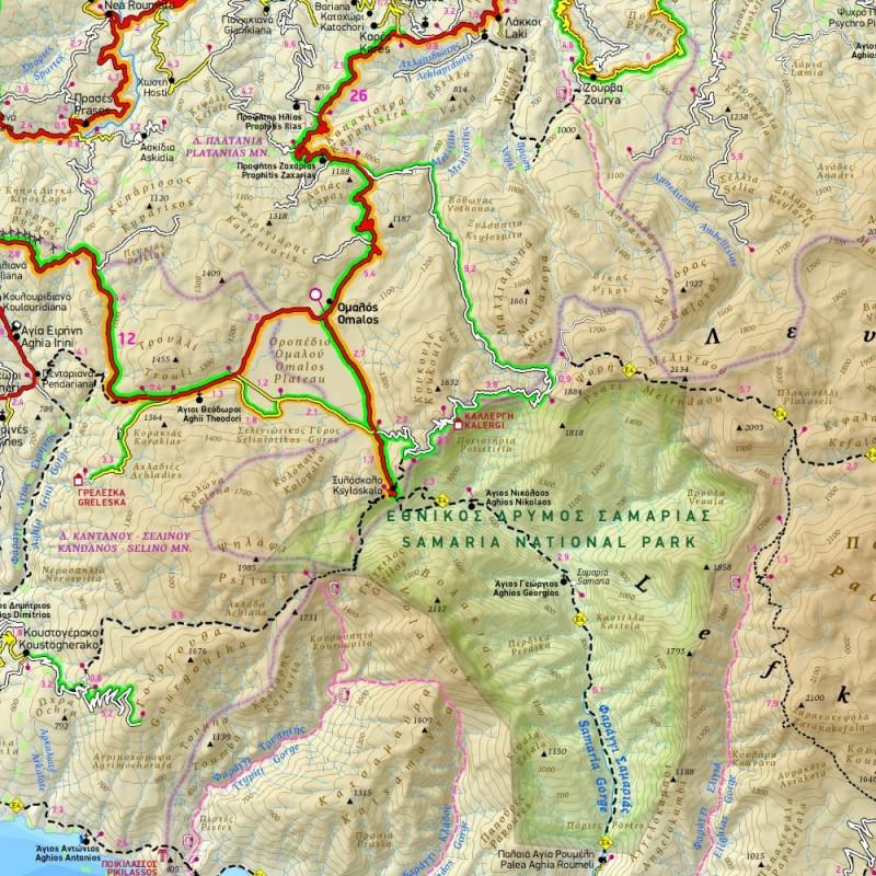 Terrain 448 Zapadni Kreta 1 100 000 Turisticka Mapa