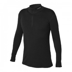 _Jitex Kacun 902 TSS černá pánské triko dlouhý rukáv zip Merino vlna změřeno