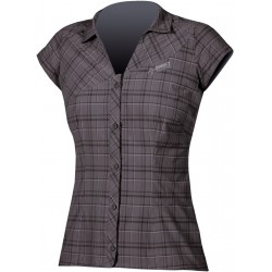 Direct Alpine Sandy black/grey dámská košile krátký rukáv