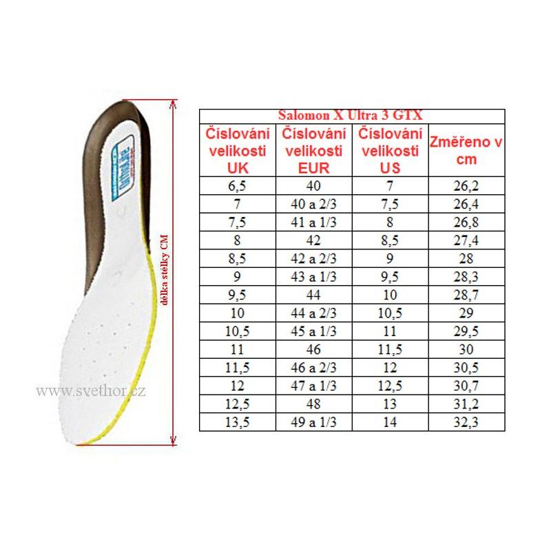 Salomon X Ultra 3 GTX graphitenight sky 402423 pánské nízké nepromokavé boty
