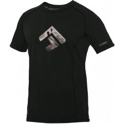 Direct Alpine Furry 1.0 black (brand) pánské triko krátký rukáv Merino
