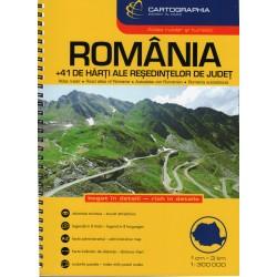 Cartographia Rumunsko 1:300 000 autoatlas
