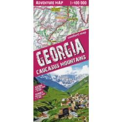 TerraQuest Gruzie (Georgia) Caucasus Mountains 1:400 000 Svaneti+Kazbek turistická mapa