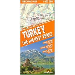 TerraQuest Turecko - nejvyšší vrcholy  1:100 000 turistická mapa