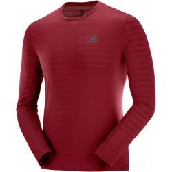 Salomon XA LS Tee M biking red C10351 pánské triko dlouhý rukáv