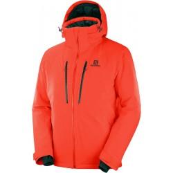 Salomon Icefrost Jkt M cherry tomato C12231 pánská nepromokavá zimní lyžařská bunda
