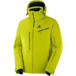 Salomon Icespeed Jkt M citronelle C12223 pánská nepromokavá zimní lyžařská bunda