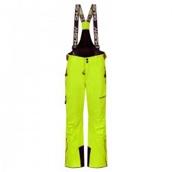 Husky Zeus Kids zelenožlutá dětské nepromokavé zimní lyžařské kalhoty