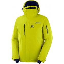Salomon Brilliant Jkt M citronelle C11922 pánská nepromokavá zimní lyžařská bunda