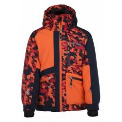 Kilpi Jackyl-JB oranžová dětská nepromokavá zimní lyžařská bunda