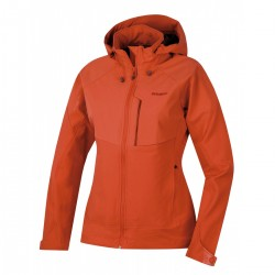 Husky Seeta L sv. červená dámská softshellová bunda Extend-Pro Softshell 15000