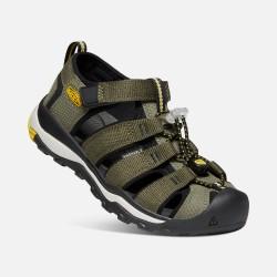 Keen Newport Neo H2 Youth dusty olive/sulphur dětské outdoorové sandály i do vody