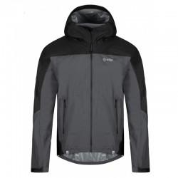 Kilpi Hurricane-M tmavě šedá pánská lehká sbalitelná nepromokavá bunda