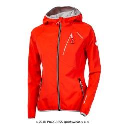 Progress Tyrolia červená dámská softshellová voděodolná bunda