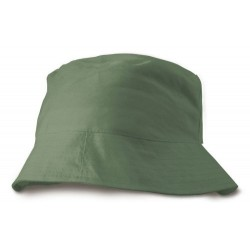 Caprio plážový letní klobouk bavlna tmavě zelená
