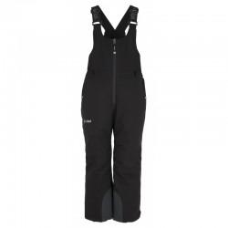 Kilpi Charlie-JB černá dětské nepromokavé zimní lyžařské kalhoty s laclem 10000