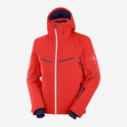 Salomon Brilliant Jacket M goji berry C13995 pánská nepromokavá zimní lyžařská bunda