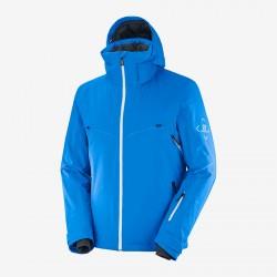 Salomon Brilliant Jacket M indigo C13993 pánská nepromokavá zimní lyžařská bund