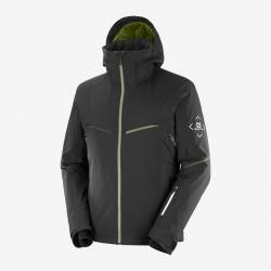 Salomon Brilliant Jacket M black C14380 pánská nepromokavá zimní lyžařská bunda