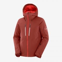 Salomon Highland Jacket M madder brown C13990 pánská nepromokavá zimní lyžařská bunda