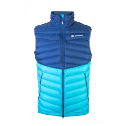 Sir Joseph Atol Man Vest navy/turquoise pánská lehká péřová zimní vesta