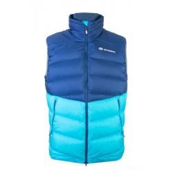 Sir Joseph Ladak Man Vest navy/turquoise pánská zimní péřová vesta