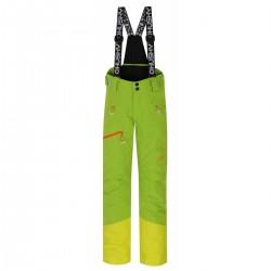 Husky Gilep K zelená dětské nepromokavé zimní rostoucí lyžařské kalhoty