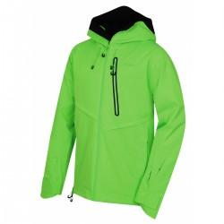Husky Mistral M neonově zelená pánská nepromokavá zimní lyžařská bunda