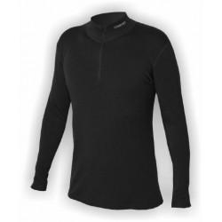 Jitex Kacun 801 TSS černá pánské triko dlouhý rukáv zip Merino vlna