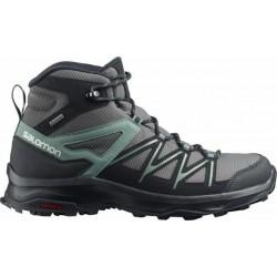 Salomon Daintree Mid GTX magnet/black/balsam green 412312 pánské trekové nepromokavé boty