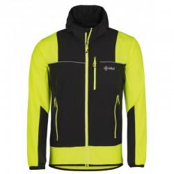 Kilpi Joshua-M žlutá pánská větruodolná bunda na běh, kolo, běžky