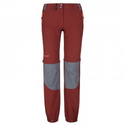 Kilpi Hosio-W tmavě červená dámské odepínací lehké turistické kalhoty