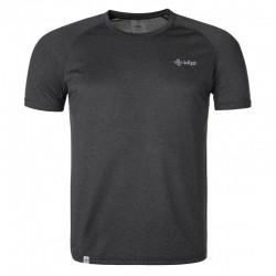 Kilpi Dimel-M tmavě šedá pánské funkční běžecké outdoorové triko krátký rukáv
