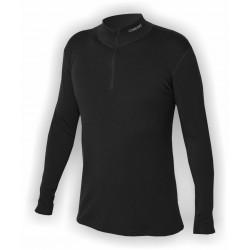 Jitex Kacun 901 TSS černá pánské triko dlouhý rukáv - stojáček a zip u krku - Merino vlna